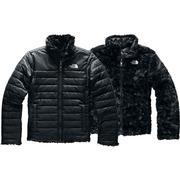 The North Face Reversible Mossbud Swirl Jacket Girls' TNF BLACK