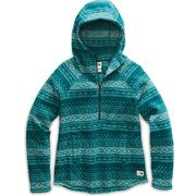 The North Face Printed Crescent Hooded Pullover Sweater Fleece Women's PONDEROSA GREEN FAIR ISLE PRINT2
