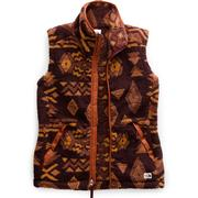 The North Face Campshire 2.0 Vest Women's DEEP GARNET RED CALIFORNIA GEO PRINT