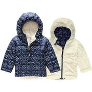 The North Face Reversible Mossbud Swirl Hoodie Infants' MONTAGUE BLUE SPARKLE GEO PRINT
