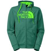 The North Face Surgent Half Dome Full Zip Hoodie Men's DEPTH GREEN HEATHER/POWER GREEN