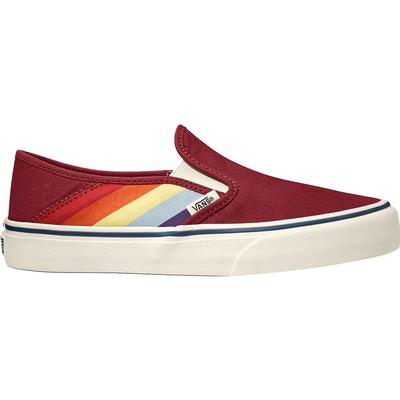 Vans Slip-On SF Shoes - (Rad Rainbow) Biking Red/Marshmallow