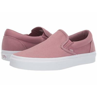 Vans Herringbone Classic Slip-On Shoes - (Herringbone) Nostalgia Rose/True White