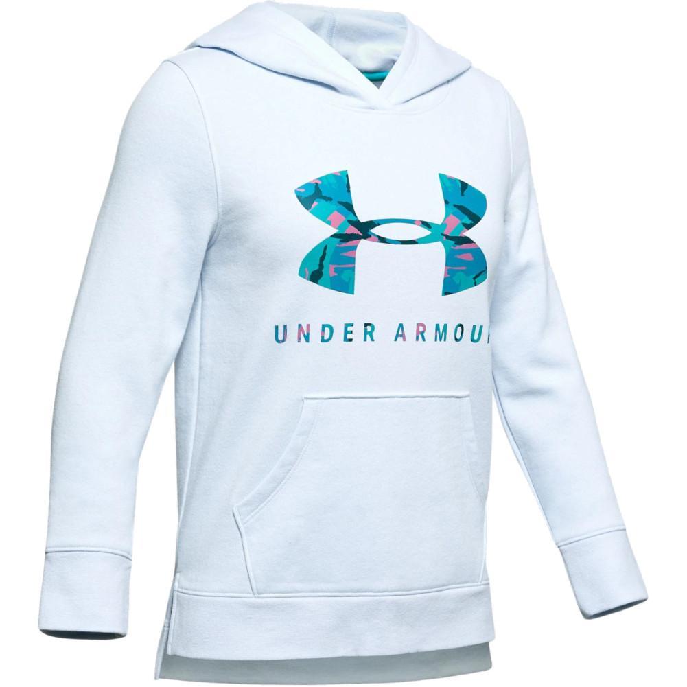 Under Armour Girls Armourfleece Hoody Print Fill Logo