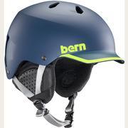 Bern Watts EPS Mips Helmet Men's MATTE NAVY/HYPER GREEN TRIM/BLACK LINER
