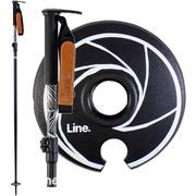 Line Pollards Paint Brush Ski Poles 2020 BLACK/WHITE