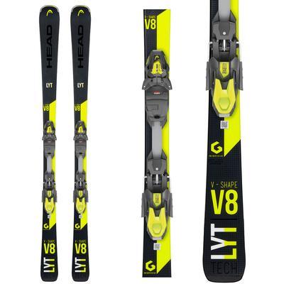 Head V-Shape V8 Skis with PRD 12 GW Bindings Men's 2020