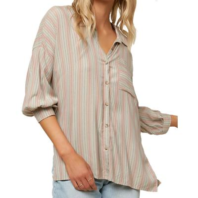 Oneill Davis Woven Long Sleeve Button Up Top Women's