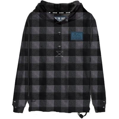 Ski The East Malo Pullover Hooded Snap Flannel Shirt Women's