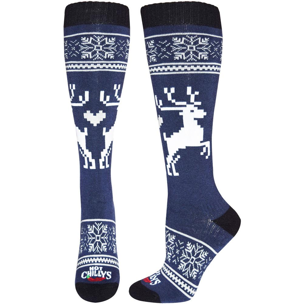 Hot Chillys Holiday Fever Mid Volume Socks Women's