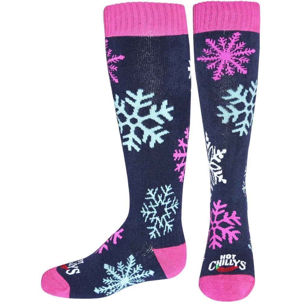 Hot Chillys Snowflakes Mid Volume Socks Kids '