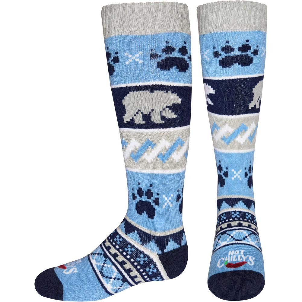 Hot Chillys Bear Crossing Mid Volume Socks Kids '