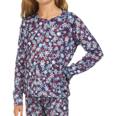 Hot Chillys Mid Weight Print Crewneck Baselayer Top Kids'