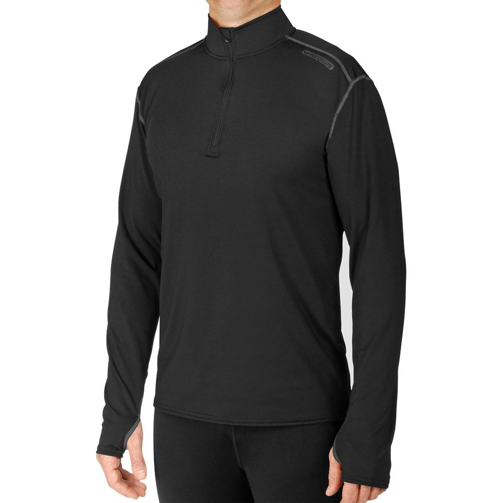 Hot Chillys Micro Elite Chamois Solid Zip- T Baselayer Top Men's
