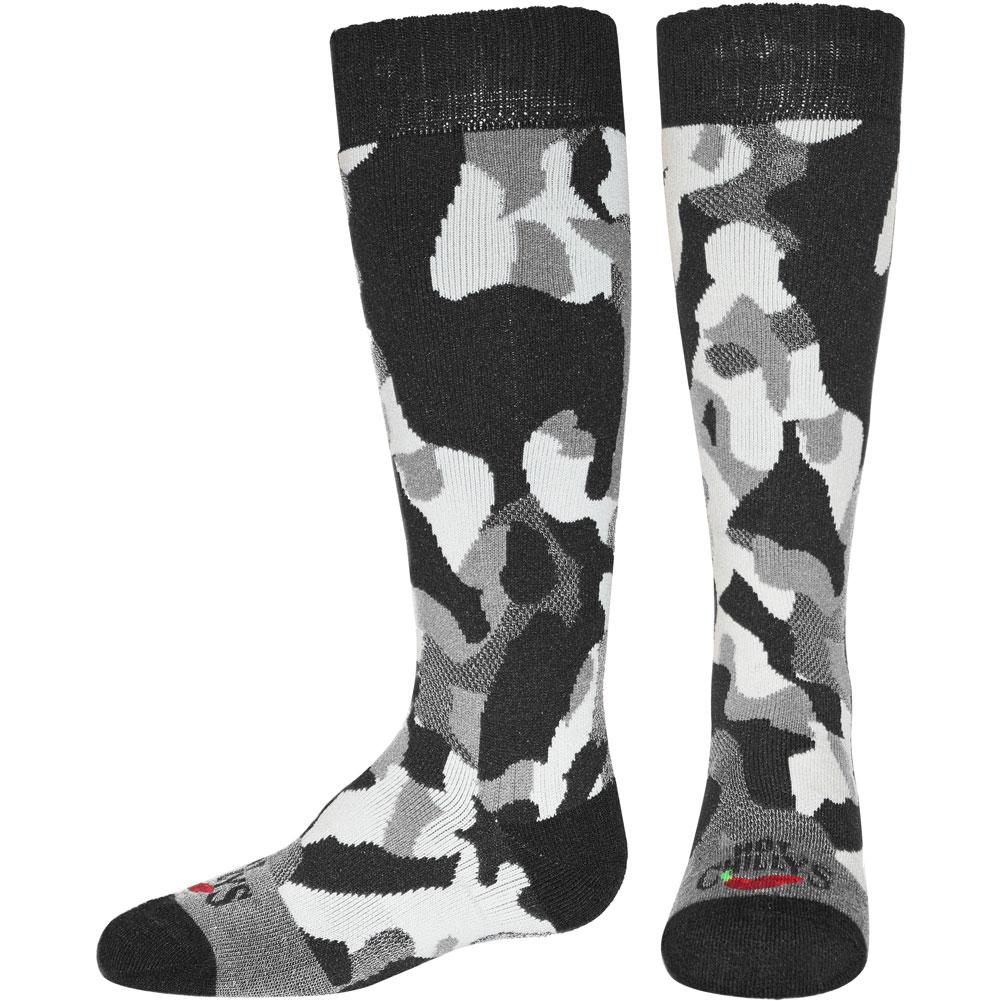 Hot Chillys Textured Camo Mid Volume Socks Kids '