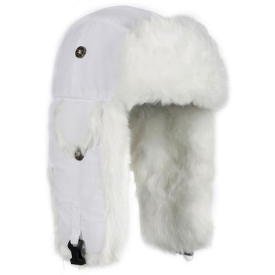Mad Bomber Wabbit White Faux Fur Bomber Hat