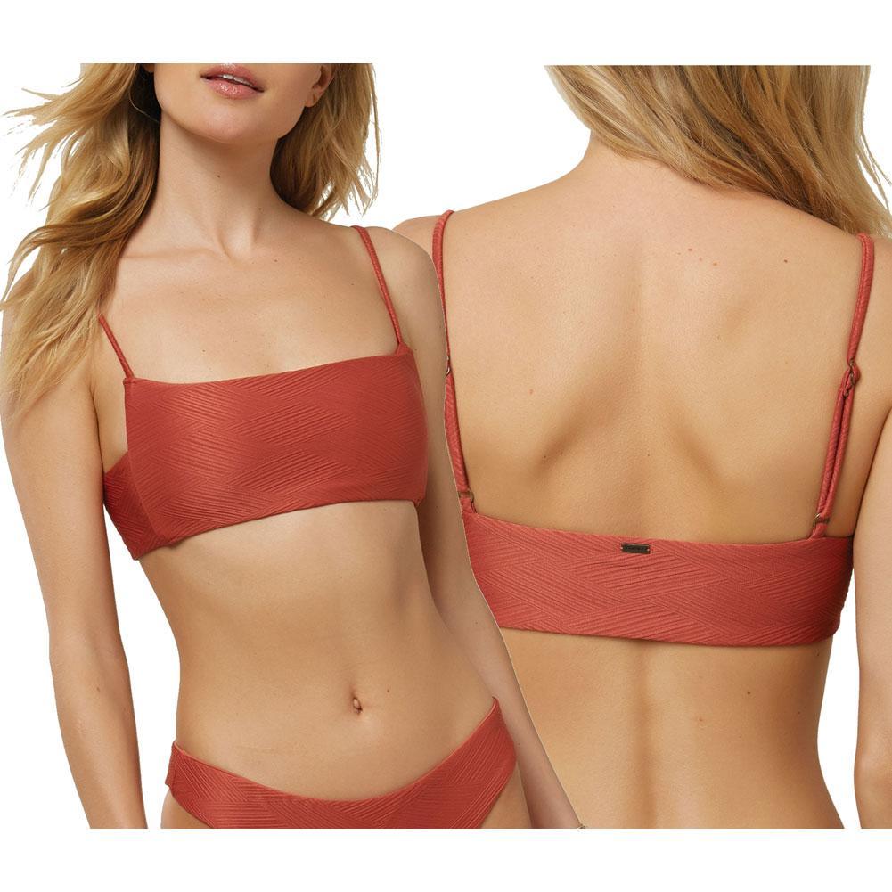 Oneill Saltwater Solids Textured Bikini Top Women's