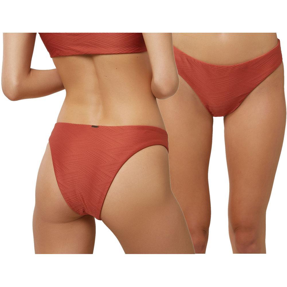 Oneill Saltwater Solids Textured Hi- Leg Bikini Bottoms Women's