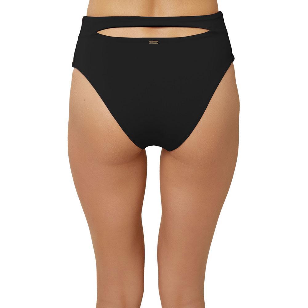 Oneill Saltwater Solids Hi- Waist Cheeky Bikini Bottom Women's
