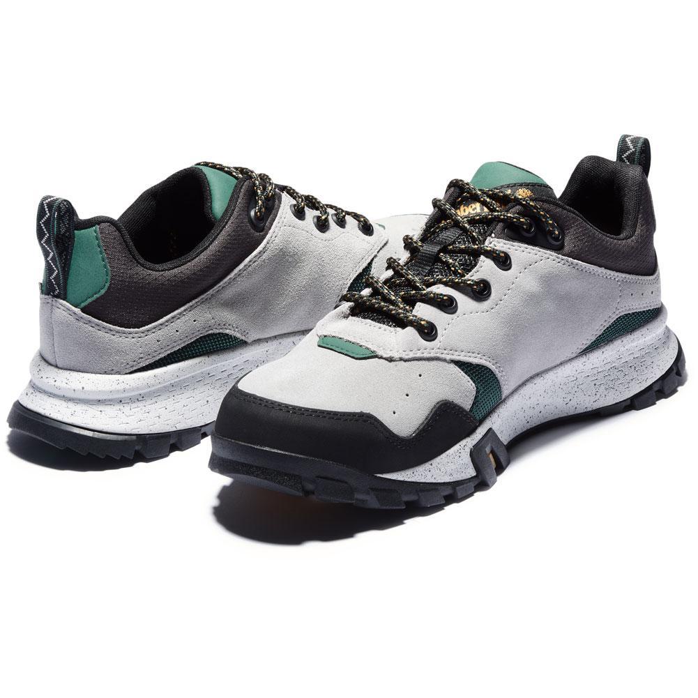 Timberland Garrison Trail Waterproof Low Hiking Boot Medium Grey Suede Men's