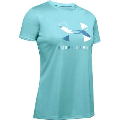 Under Armour Big Logo Tech Graphic Short Sleeve Crew T-Shirt Girls'