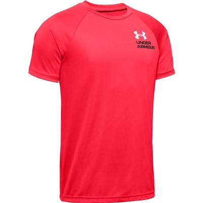 Under Armour Tech Splash Chest Stripe Short Sleeve T-Shirt Boys'
