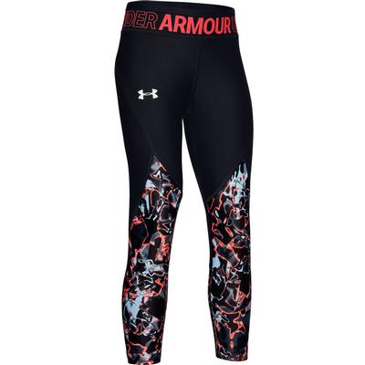 Under Armour HeatGear Armour Printed Crop Leggings Girls'