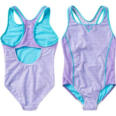 Speedo Print Blocked One Piece Swim Suit Girls'