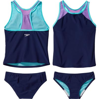 Speedo Mesh Tankini Two Piece Bikini Set Girls'