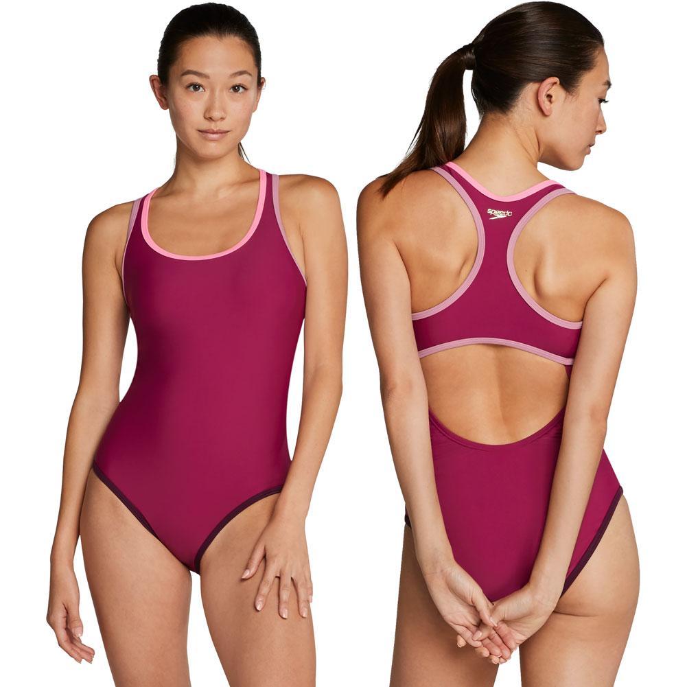 Speedo Contrast Binding One Piece Swim Suit Women's