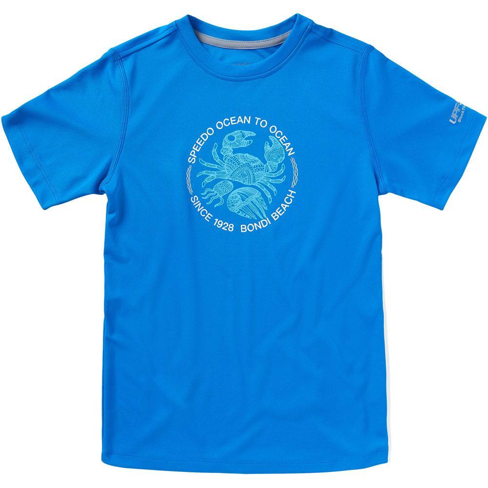 Speedo Short Sleeve Graphic Swim Shirt (Crab/Jelly Fish) Boys '