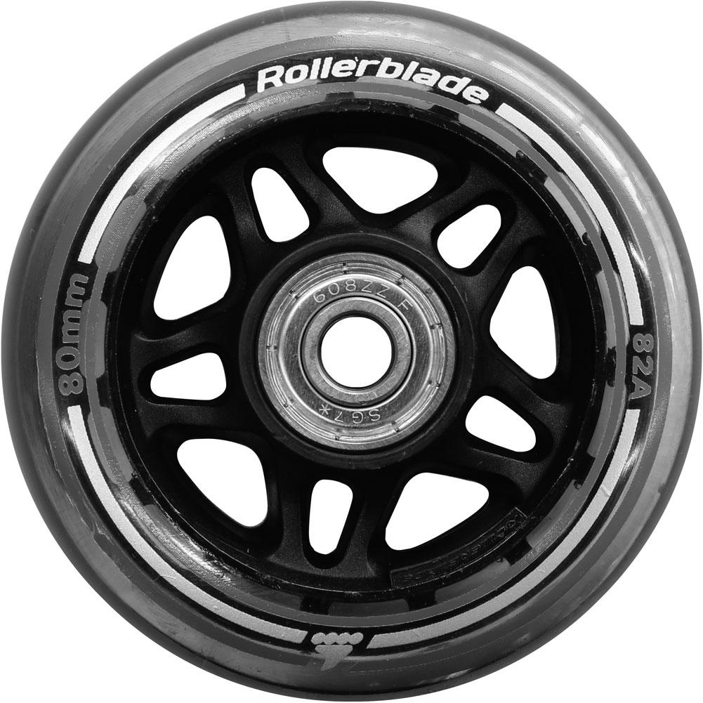 Rollerblade Wheel Kit 80mm/82a With Sg7 Bearings