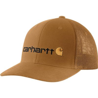 Carhartt Rugged Flex Canvas Mesh-Back Fitted Logo Graphic Cap Men's