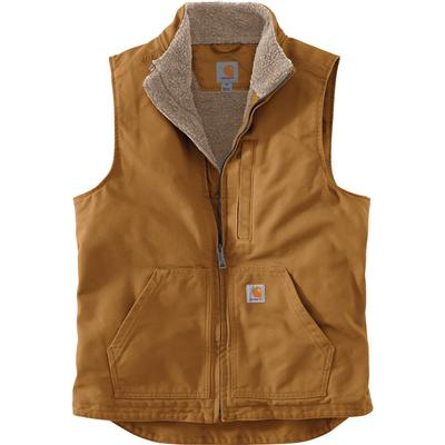 Carhartt Loose Fit Washed Duck Sherpa-Lined Mock-Neck Vest Men's