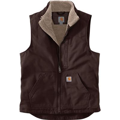 Carhartt Washed Duck Sherpa Lined Mock Vest Men's