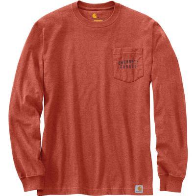 Carhartt Original Fit Heavyweight Long-Sleeve Rugged Work Graphic Pocket T-Shirt Men's