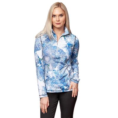 Sno Skins Micro Fiber Print Zip Neck Top Women's