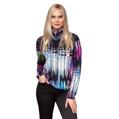 Sno Skins Viscose Print Turtleneck Top Women's