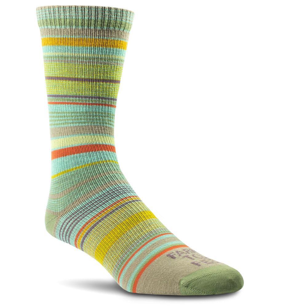 Farm To Feet Ithaca Ultralight Multi- Stripe Crew Socks Women's