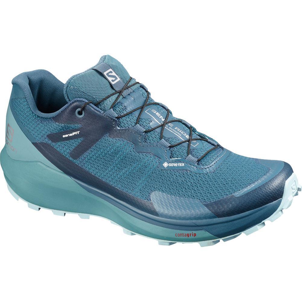Salomon Sense Ride 3 Gtx Invisible Fit Trail Running Shoes Women's