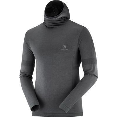 Salomon Outspeed Wool Long Sleeve Hooded T-Shirt Men's