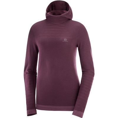 Salomon Outspeed Wool Long Sleeve Hooded T-Shirt Women's