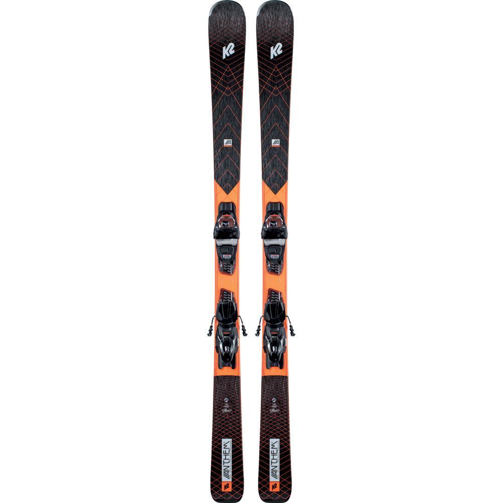 K2 Anthem 78 Skis With Er3 10 Compact Quikclik Ski Bindings Women's 2021