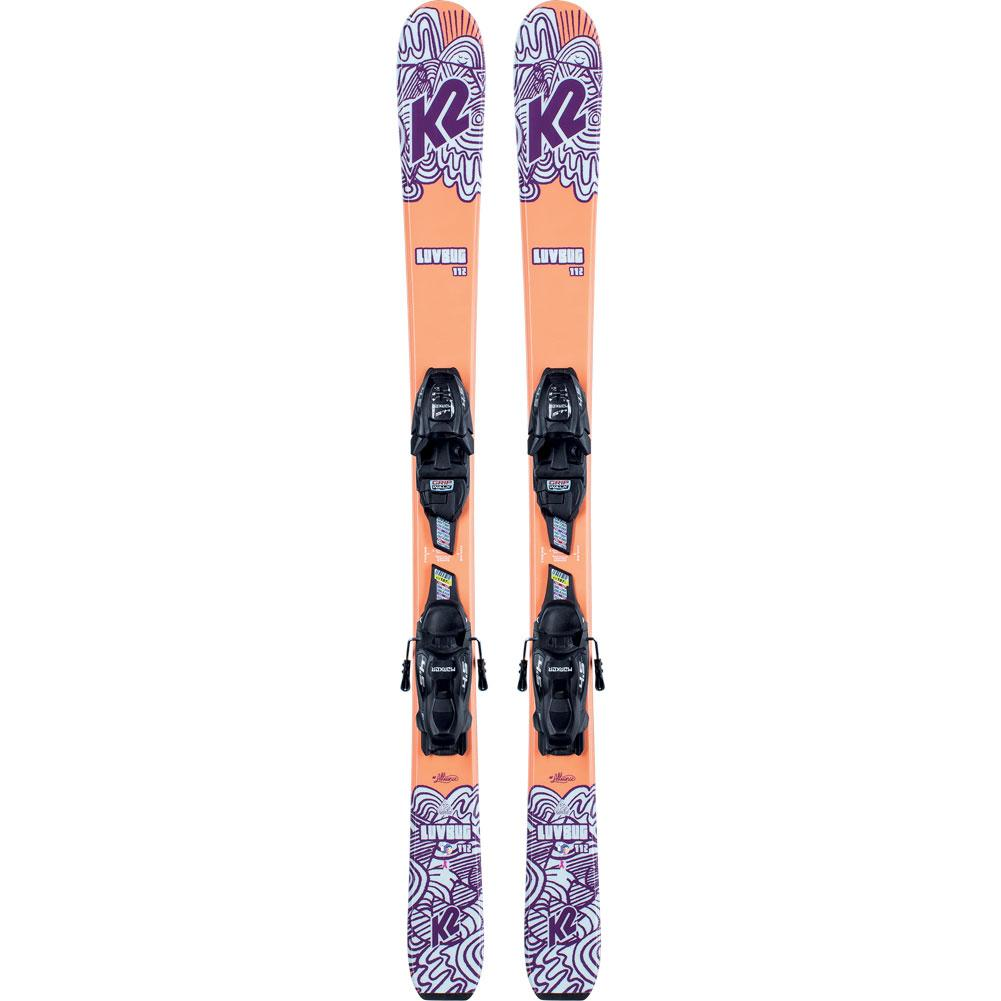 K2 Luv Bug Skis With Fdt 4.5 Ski Bindings Kids ' 2021