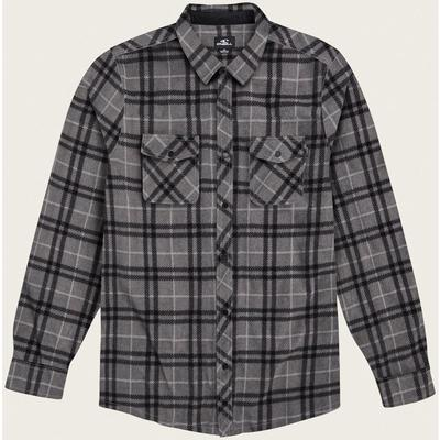 Oneill Glacier Plaid Long Sleeve Button Up Shirt Boys'
