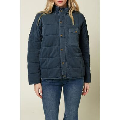 ONEILL W MABLE WOVEN QUILTED JACKET