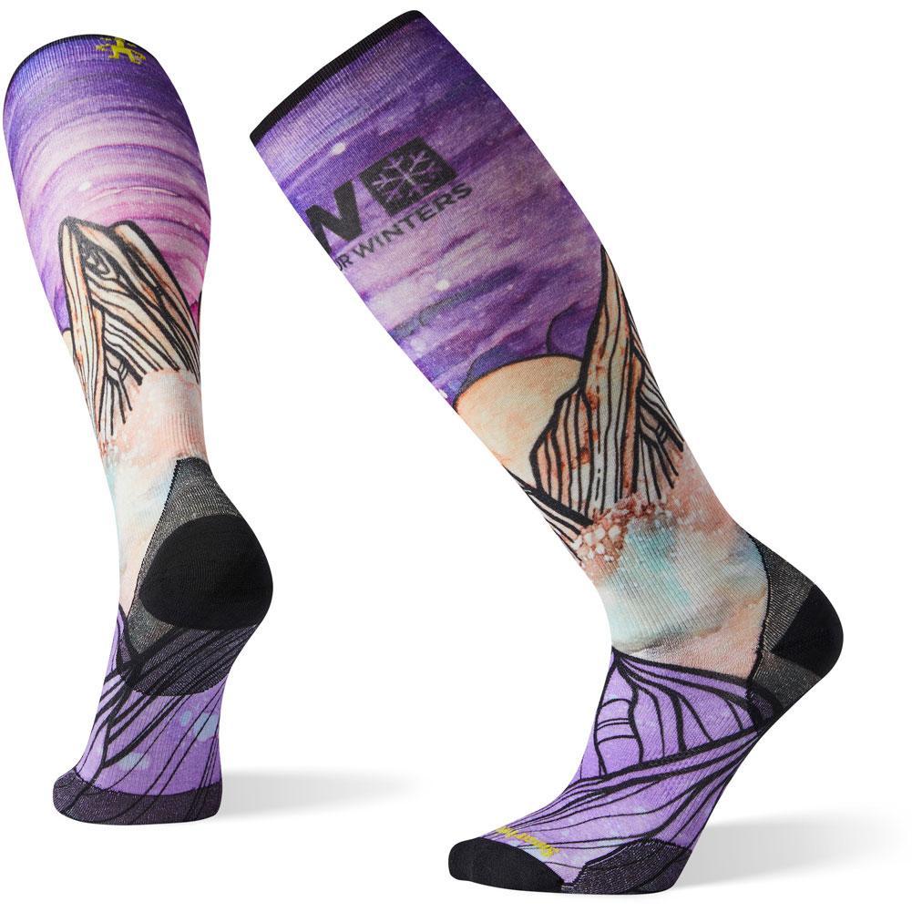 Smartwool Phd Ski Ultra Light Pow Print Socks Men's