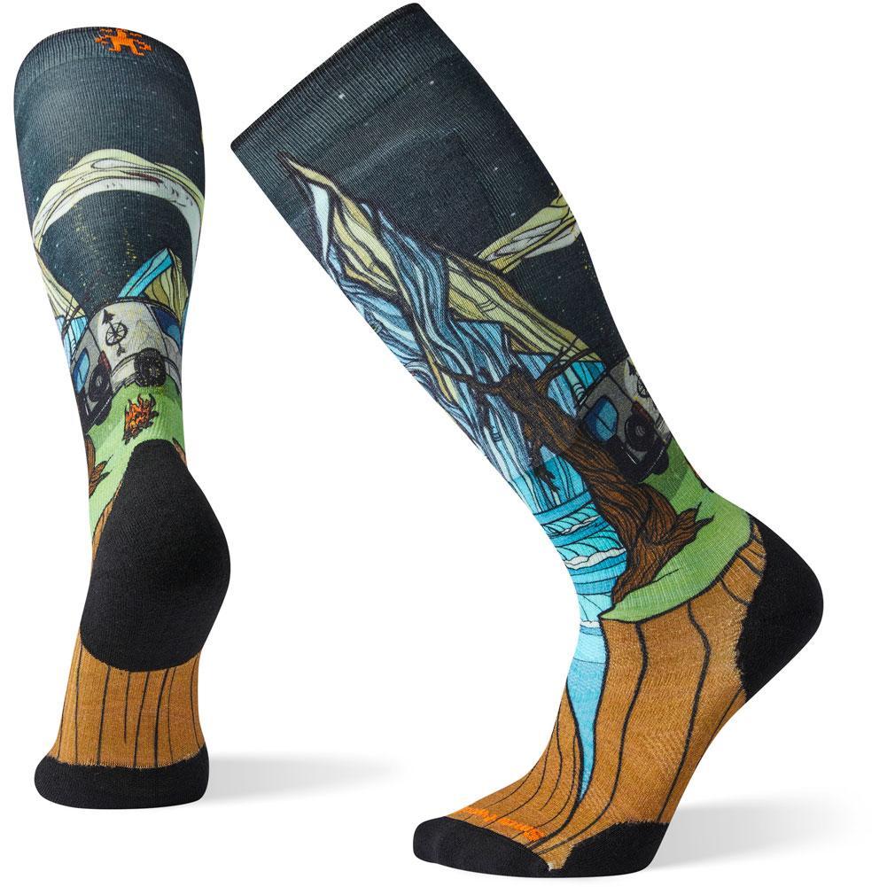 Smartwool Phd Ski Light Elite Benchetler Print Socks Men's