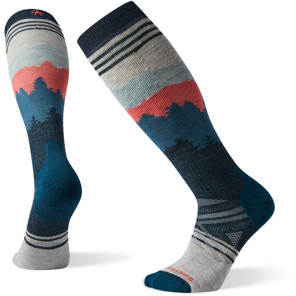 Smartwool Phd Ski Medium Alpenglow Pattern Socks Men's